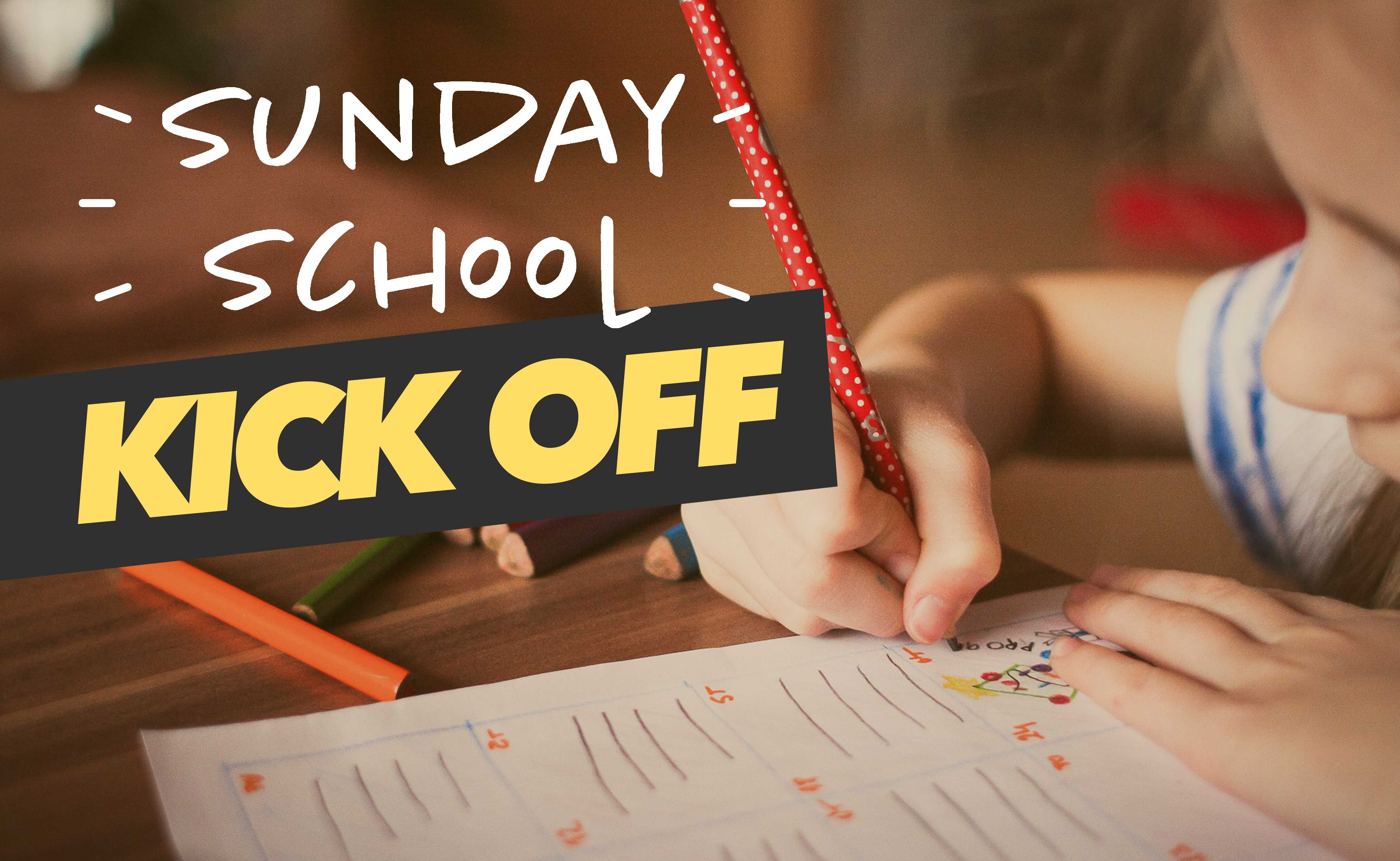 Child Writing in Sunday School